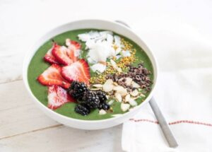 Bowls saudáveis de Power Green Smoothie